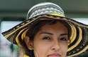 Enrolada numa bandeira colombiana, peregrina de Bogotá esteve presente na abertura da Jornada Mundial da Juventude, em Copacabana