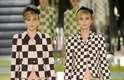 O jogo gráfico quadriculado, do tabuleiro de damas, apresentado na coleção de verão 2013 faz referência aos primeiros desenhos das bolsas Louis Vuitton, o Damier: tendência gráfica continua em alta