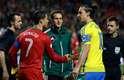 Repescagem viu o encontro entre os astros Cristiano Ronaldo e Zlatan Ibrahimovic