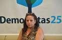 5 de janeiro - Ramona Matos Rodriguez se abrigou no gabinete do DEM na Câmara dos Deputados depois de abandonar o programa Mais Médicos do governo federal