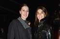 A ex-editora-chefe da Vogue Pais Carine Roitfeld (à direita) também conferiu o desfile de Nina Ricci