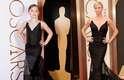 A fotógrafa Tricia Messeroux recriou o look e a pose de Charlize Theron durante a cerimônia do Oscar. O vestido da atriz foi bastante elogiado