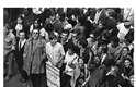 Estrelas da MPB e do teatro, como Caetano Veloso, Gilberto Gil, Tônia Carrero e Paulo Autran participaram da Passeata dos Cem mil, no Centro do Rio de Janeiro, em 1968