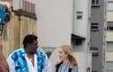 Angélica e Tony Tornado estiverem presentes na Praça Roosevelt, em São Paulo, nesta segunda-feira (26), para gravação do programa Estrelas