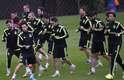 Seleção espanhola treina no CT do Caju, em Curitiba. A Espanha estreia na Copa do Mundo na próxima sexta-feira contra a Holanda, na Arena Fonte Nova