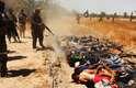Fotos publicadas na internet indicam que dezenas de membros do Exército iraquiano capturados foram executados por terroristas do Estado Islâmico no Iraque e Levante (EIIL)