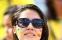 Pintados, torcedores de Austrália e Espanha se divertem nesta segunda-feira na Arena da Baixada, em Curitiba