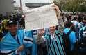 Do lado de fora do estádio, torcedores deram aopoio a Felipão