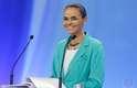 Candidata Marina Silva no debate dos presidenciáveis da Record