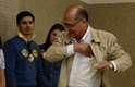 Geraldo Alckmin (PSDB), candidato ao Governo de São Paulo, eJosé Serra (PSDB), que disputa o Senado, estiveram no Colégio Santo Américo, em São Paulo