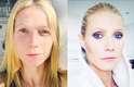 """A atriz Gwyneth Paltrow compartilhou a sua """"transformação"""" pelas mãos do maquiador Max Factor antes de uma entrevista"""