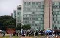Brasília (DF) - Manifestantes contra o governo Dilma começam a se reunir no Congresso Nacional e no Museu Nacional, em Brasília