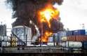 Bombeiros enfrentam dificuldade para combater o fogo