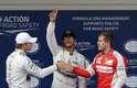 Hamilton consegue a pole pela terceira vez consecutiva