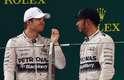 Rosberg e Hamilton no pódio: reclamações após provaa