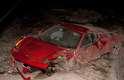 Ferrari de Vidal ficou destruída após acidente