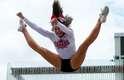 Cheerleaders fizeram apresentação em inauguração da superloja do Pan