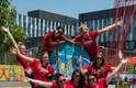 Atletas do pólo aquático do Canada fazem caras e bocas em pose