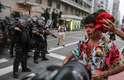 Homem fica ferido durante confronto em protesto do Movimento Passe Livre (MPL) contra o aumento da tarifa do transporte em São Paulo