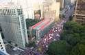 Ato em defesa de Lula e Dilma toma conta da av. Paulista
