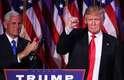 Pouco antes das 3 da manhã desta quarta-feira (9), horário de Nova York, Donald Trump iniciou seu discurso de vitória afirmando que minutos antes recebera uma ligação da candidata derrotada Hillary Clinton
