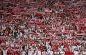 Torcida da Polônia fez bonita festa na arena Spartak, em Moscou