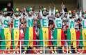 Torcida de Senegal também fez uma comemoração bonita nas arquibancadas da Arena Spartak em Moscou