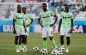 Time da Nigéria já se aqueceu para o jogo contra a Islândia pelo Grupo D da Copa do Mundo