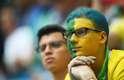 Torcedores brasileiros apreensivos antes do jogo do Brasil