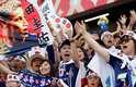 Torcida japonesa dá um show em Ecaterimburgo, antes da partida entre Japão e Senegal