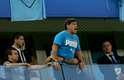 Maradona é figurinha certa nos jogos da Argentina nesse Mundial e torce como qualquer outro argentino