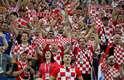 Torcida croata também em peso em Sochi para o jogo contra a Rússia, valendo uma vaga na semi-final contra a Inglaterra