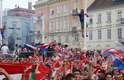 Centro de Zagreb ficou lotado de croatas