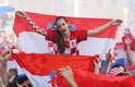 Torcedora comemora vice-campeonato da Croácia