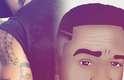 Léo Santana - O Ex-Parangolé compartilhou sua nova tatuagem nas histórias de seu Instagram: seu próprio rosto