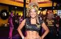 A cantora e atriz Leilah Moreno exibiu sua boa forma no camarote