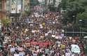 Protesto de estudantes e professores contra os cortes na educação feitos pelo governo federal no Largo do Rosário no centro de Campinas, interior de São Paulo, nesta quarta-feira, 15 de maio de 2019