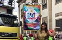 Rainha Cleópatra é homenageada pela atriz Fabiana Karla no Carnaval 2020