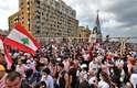 Protesto contra sistema político em Beirute