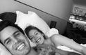 Sorrindo ao lado do (agora) ex-marido, Xande Negrão