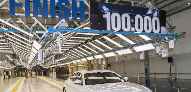 La planta Maserati AGAP fabrica su auto 100,000