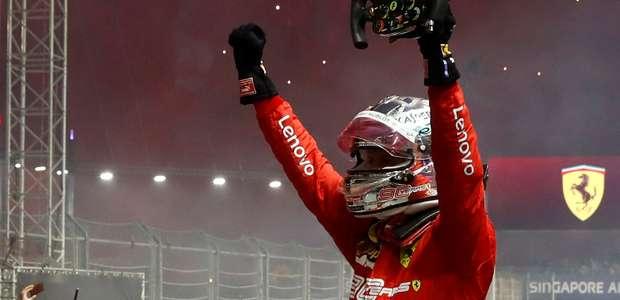 Com atuação redentora, Vettel vence GP de Singapura