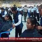 Huancayo: Alumnas PNP donan cabello a pacientes con cáncer