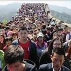 Gran Muralla China y otros sitios, llenos por días feriados