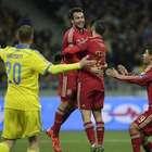 España cierra el trámite de clasificación y vence a Ucrania