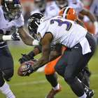 Ravens vencen a Browns, al bloquear gol de campo