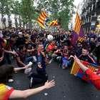 Fotogalería de la afición celebrando el triunfo del Barça