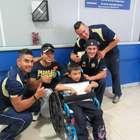 Pumas CU visitan a los niños del Instituto Nacional de ...
