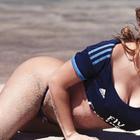 Mirtha Sosa se desnuda tras la victoria del Real Madrid