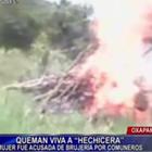 Oxapampa: queman viva a mujer acusada de practicar brujería